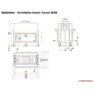 Brunner Kamineinsatz Architektur Tunnel 38/86