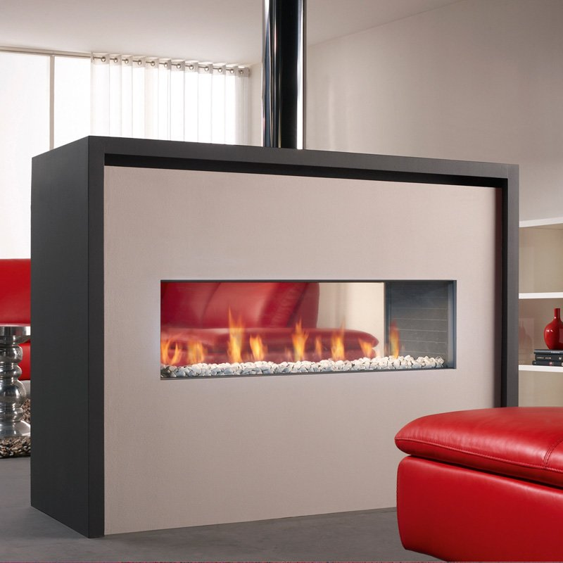 spartherm dru gaskamin metro 100xt 41 tunnel rch schwarz glatt. Black Bedroom Furniture Sets. Home Design Ideas